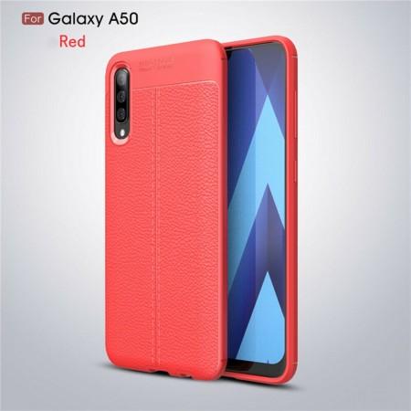 Husa Samsung Galaxy A50 | A50s | A30s Rosie din TPU cu Design de Tip Piele