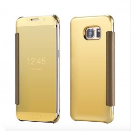 Poze Samsung Galaxy S8 - Husa Gold Book Cover Clear View