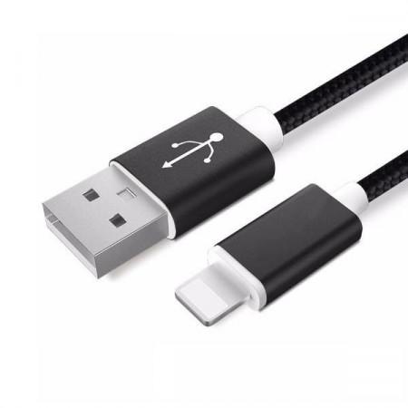 Husa Apple Ligtning cablu date incarcator 2m Negru iPhone