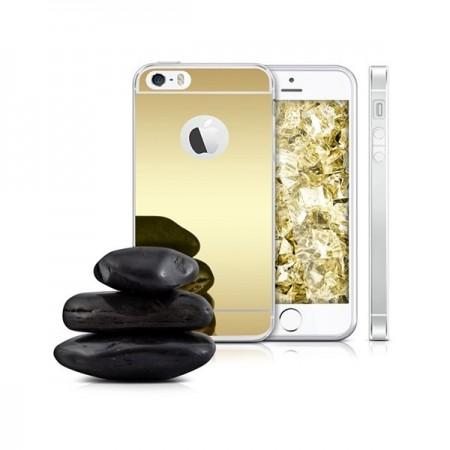 iPhone 6 si 6S Husa Silicon Mirror Gold pentru iPhone