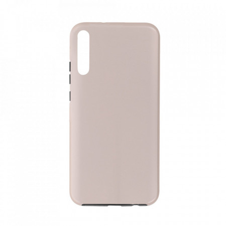 Husa Samsung Galaxy A70 | A70s - 360 Fully cu Spate din Policarbonat si Folie din Silicon - Crem