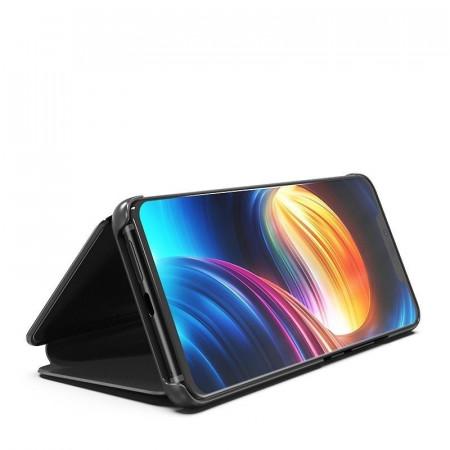 Husa Samsung Galaxy J6 PLUS Book Cover Clear View Stand Black