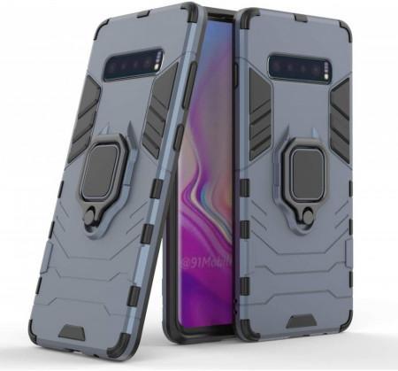 Husa Samsung Galaxy S10e Bleumarin Military cu Inel