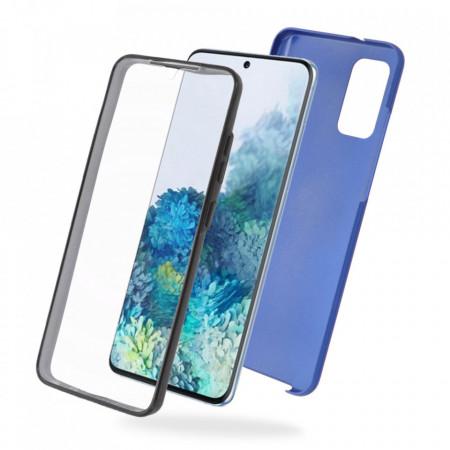 Husa Samsung Galaxy S20 - 360 Fully cu Spate din Policarbonat si Folie din Silicon - Blue