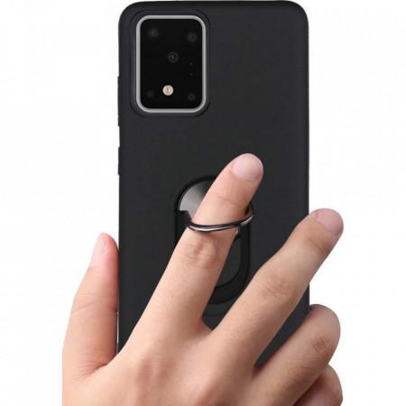 Husa Samsung Galaxy S20 ULTRA Neagra Din Policarbonat Premium cu Inel Rotativ