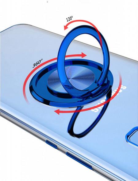 husa silicon albastru inel samsung s10e
