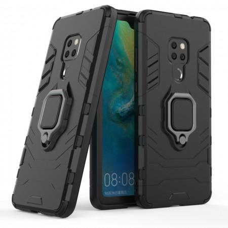 Husa Huawei Mate 20 Neagra Military cu Inel