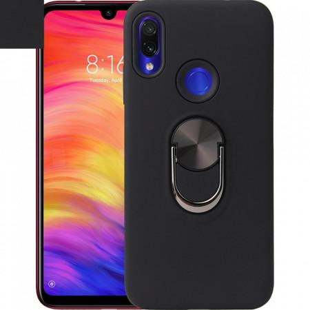 Husa Huawei Y6 | Y6 PRO (2019) Neagra Din Policarbonat Premium cu Inel Rotativ