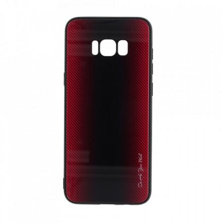 Husa pentru Samsung Galaxy S8 PLUS - Husa Pro Shield Glass Rosu cu Efect Gradient