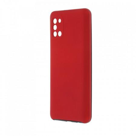 Husa Samsung Galaxy A31 - 360 Fully cu Spate din Policarbonat si Folie din Silicon - Rosu