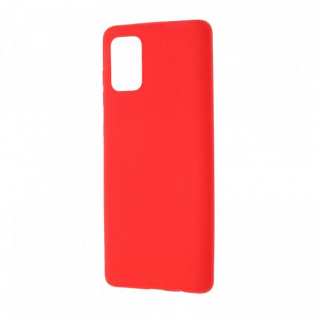 Husa Samsung Galaxy A71 Plus flexibila din silicon, rosu A71-M3-V2