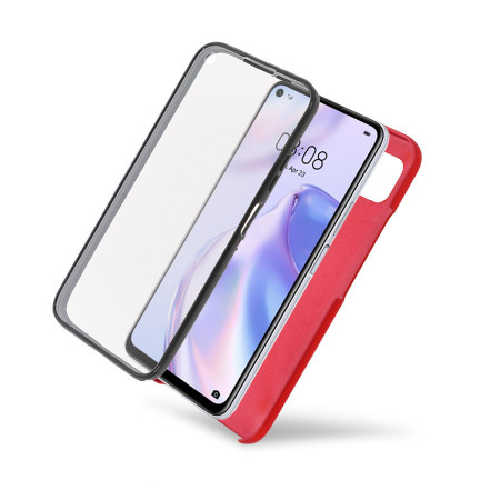 Husa Samsung Galaxy S20 - 360 Fully cu Spate din Policarbonat si Folie din Silicon - Red