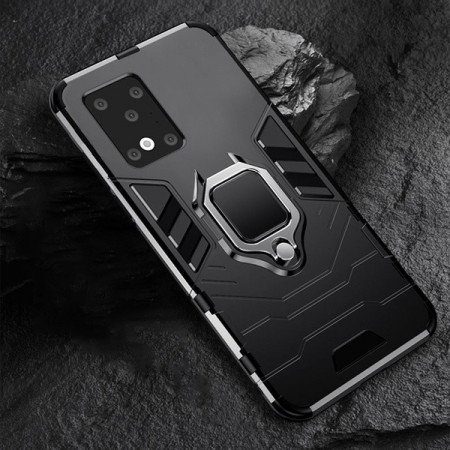 Husa Samsung Galaxy S20 ULTRA Neagra Military cu Inel