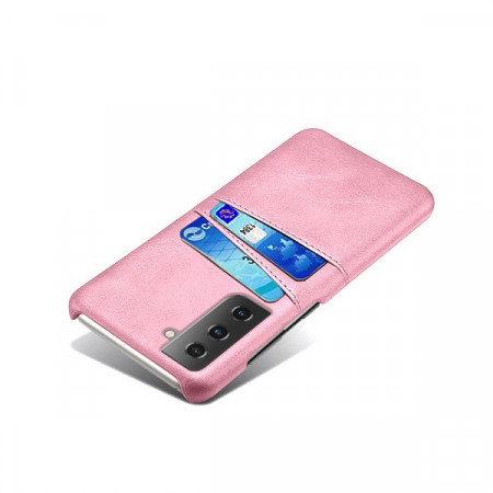 Husa Samsung Galaxy S21, Dual Card Slots, roz, S21-001