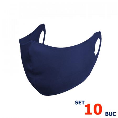 Set 10 buc Masca protectie pentru fata Fashion, Culoare Bleumarin