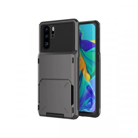 Husa Huawei P Smart 2019 - Book Type Card Holder, negru, HWPS2019-002