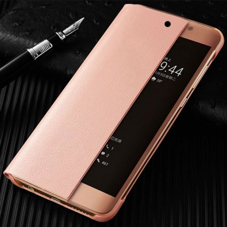 Husa Huawei Y6 | Y6 Prime | (2018) Book Cover Clear View Rose