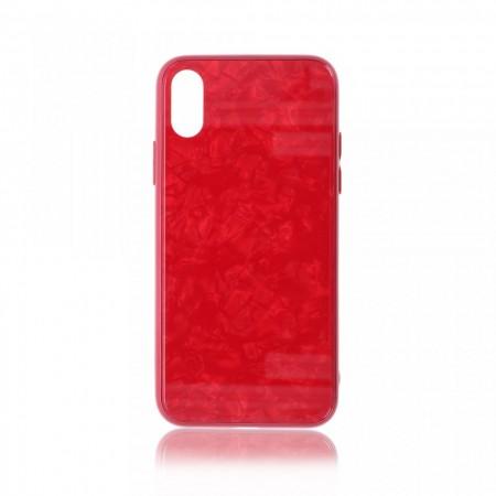 Husa iPhone X sau XS High Pro Shield Glass Red
