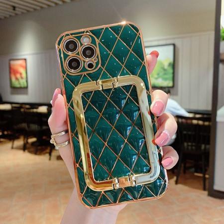 Husa pentru Apple iPhone 12 PRO, cu protectie ridicata, Fashion, tip geantuta, silicon, verde IP12PRO-005