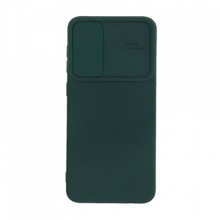 Husa Samsung Galaxy A50   A50s   A30s - Silicon Antisoc cu Protectie Glisanta Pentru Camera - Verde