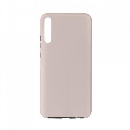 Husa Samsung Galaxy A7 (2018) - 360 Fully cu Spate din Policarbonat si Folie din Silicon - Crem