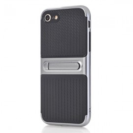 Poze iPhone 6 si 6S - Husa Carbon Texture Silver Cu Suport Wide