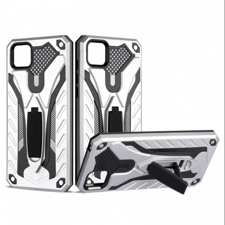 Husa Huawei Y5p - Military Defender Antisoc cu Suport Wide - Silver