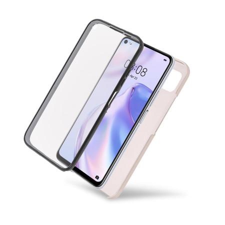 Husa iPhone 11 PRO - 360 Fully cu Spate din Policarbonat si Folie din Silicon - Crem