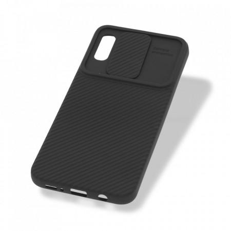 Husa Samsung Galaxy A30 - Silicon Antisoc cu Protectie Glisanta Pentru Camera - Negru