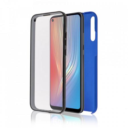 Husa Samsung Galaxy A7 (2018) - 360 Fully cu Spate din Policarbonat si Folie din Silicon - Blue