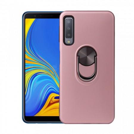 Husa Samsung Galaxy A7 (2018) Rose Din Policarbonat Premium cu Inel Rotativ