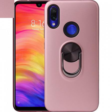 Husa Huawei Y6 | Y6 PRO (2019) Rose Din Policarbonat Premium cu Inel Rotativ