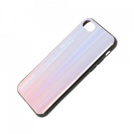 Husa iPhone 7 | 8 | SE (2020) - Husa Gradient Aurora Colorful - Pink