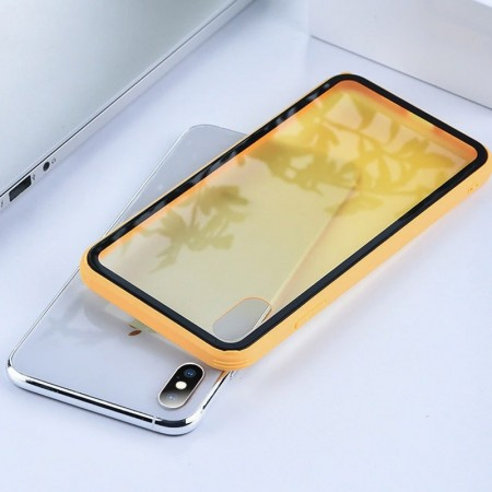 Husa iPhone X sau XS Galbena Gradient Antisoc