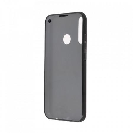 Husa Samsung Galaxy A40 - 360 Fully cu Spate din Policarbonat si Folie din Silicon - Black