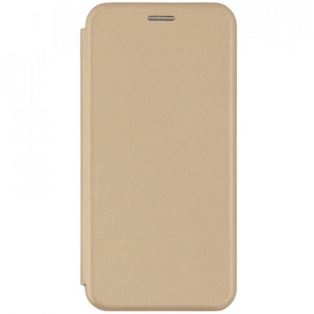 Husa Samsung Galaxy A70 Flip Magnet Book Type Gold