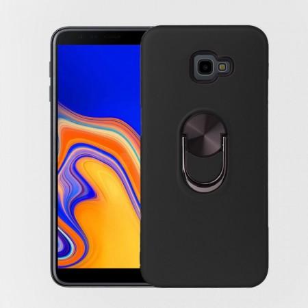 Husa Samsung Galaxy J4 PLUS Neagra Din Policarbonat Premium cu Inel Rotativ