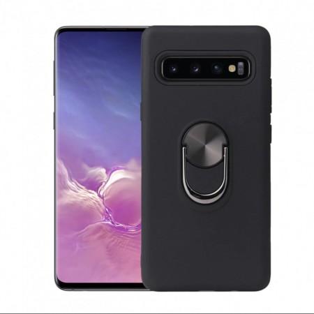 Husa Samsung Galaxy S10 PLUS Neagra Din Policarbonat Premium cu Inel Rotativ