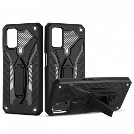 Husa Samsung Galaxy S20 - Military Defender Antisoc cu Suport Wide - Black