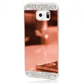 Husa Samsung Galaxy S5 Silicon Luxury Mirror Rose