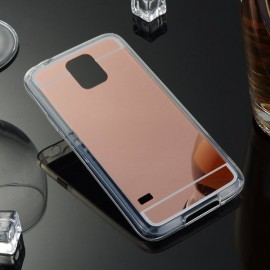 Husa Samsung Galaxy S5 Silicon Mirror Rose