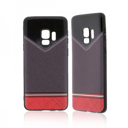 Samsung Galaxy S9 - Husa Silicon Jeans Red