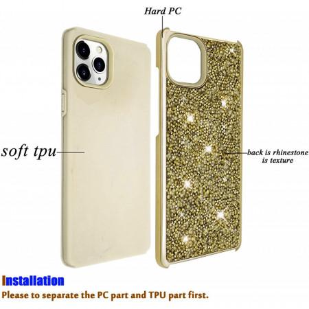 Husa iPhone 11 PRO MAX - Husa Luxury Glitter Diamond Gold