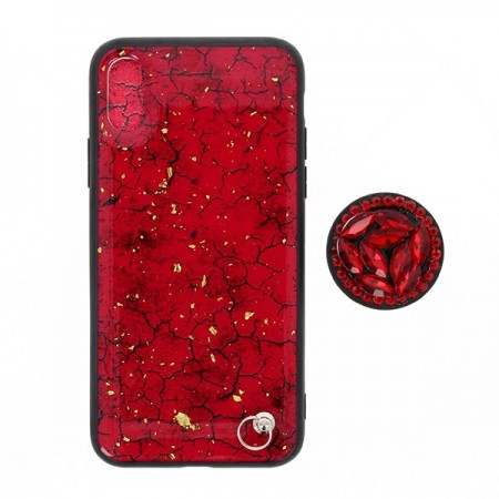 Husa iPhone X sau XS Din Silicon Red Texture