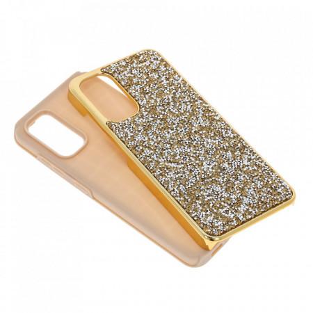 Husa pentru Samsung Galaxy S20 - Husa Luxury Glitter Diamond Gold