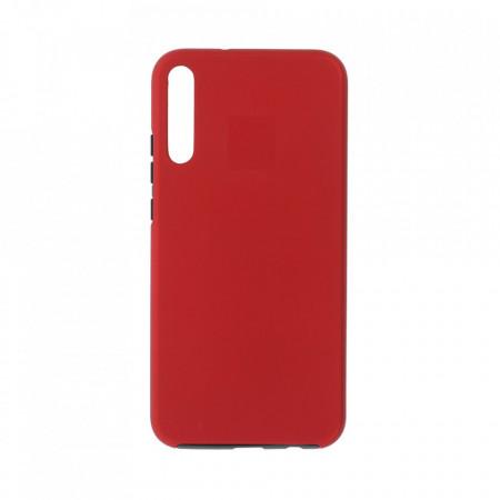 Husa Samsung Galaxy A10 - 360 Fully cu Spate din Policarbonat si Folie din Silicon - Red