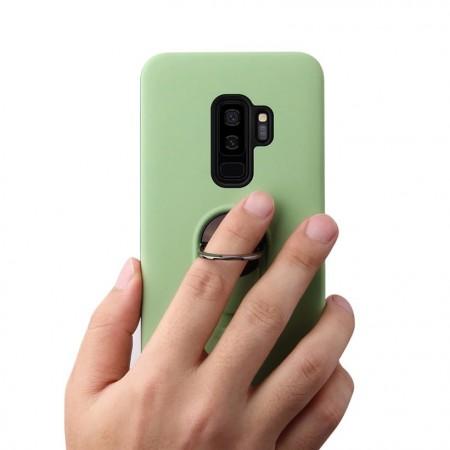 Husa Samsung Galaxy S9 Plus Verde Din Policarbonat Premium cu Inel Rotativ