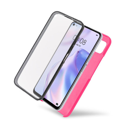 Husa iPhone 11 PRO - 360 Fully cu Spate din Policarbonat si Folie din Silicon - Roz