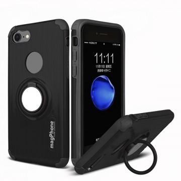 Husa iPhone 7 sau 8 magPhone Antisoc Black Cu Inel Rotativ