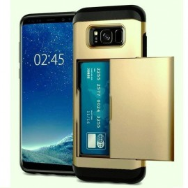 Husa Samsung Galaxy S5 Gold Antisoc Cu Buzunar Pentru Card